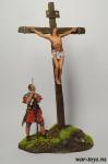 Распятие - Оловянный солдатик коллекционная роспись 54 мм. Все оловянные солдатики расписываются художником в ручную