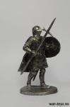 Госпитальер 15 век - Оловянный солдатик. Чернение. Высота солдатика 54 мм