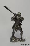 Рыцарь с гранд-фальшионом - Оловянный солдатик. Чернение. Высота солдатика 54 мм