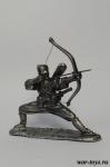 Синоби с луком Ханкю - Оловянный солдатик. Чернение. Высота солдатика 54 мм