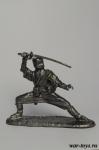 Ниндзя-мечник - Оловянный солдатик. Чернение. Высота солдатика 54 мм