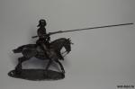 Немецкий Рыцарь 1575 в доспехах - Оловянный солдатик. Чернение 54 мм