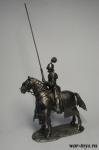 Французский жандарм 1475 год - Оловянный солдатик. Чернение 54 мм