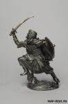 Арабский воин, 1250 - Оловянный солдатик. Чернение. Высота солдатика 54 мм