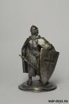 Крестоносец - Оловянный солдатик. Чернение. Высота солдатика 54 мм