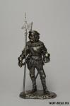 Швейцарский гвардеец - Оловянный солдатик. Чернение. Высота солдатика 54 мм