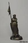 Рыцарь Тевтонского ордена середина 13 в. - Оловянный солдатик. Чернение. Высота солдатика 54 мм