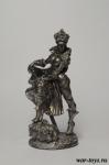 Девушка в шапке (фэнтэзи) - Оловянный солдатик. Чернение. Высота солдатика 54 мм