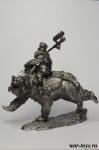 Гном на медведе - Оловянный солдатик. Чернение. Высота солдатика 54 мм