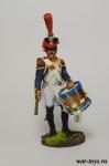 Барабанщик гренадерской роты линейного полка. Франция, 1809-12 - Оловянный солдатик коллекционная роспись 54 мм. Все оловянные солдатики расписываются художником в ручную