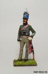 Офицер конных егерей. Италия, 1814 год - Оловянный солдатик коллекционная роспись 54 мм. Все оловянные солдатики расписываются художником в ручную