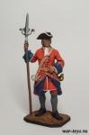 Канонир Артиллерийского плк. с пальником, 1704-25 - Оловянный солдатик коллекционная роспись 54 мм. Все оловянные солдатики расписываются художником в ручную