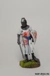 Английский рыцарь XIII век - Оловянный солдатик коллекционная роспись 54 мм. Все оловянные солдатики расписываются художником в ручную