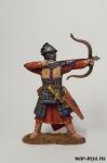 Монгольский лучник 14 в. - Оловянный солдатик коллекционная роспись 54 мм. Все оловянные солдатики расписываются художником в ручную