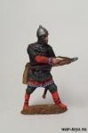 Русский арбалетчик, 14 в. - Оловянный солдатик коллекционная роспись 54 мм. Все оловянные солдатики расписываются художником в ручную