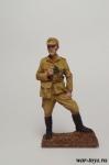 Офицер Вермахта в Тунисе, 1943 год - Оловянный солдатик коллекционная роспись 54 мм. Все оловянные солдатики расписываются художником в ручную