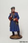 Красноармеец кубанских казачьих кавалерийских частей. 1939-43 г - Оловянный солдатик коллекционная роспись 54 мм. Все оловянные солдатики расписываются художником в ручную