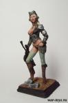 Пулеметчица стимпанк Stormtrooper 75 мм - Оловянный солдатик коллекционная роспись 75 мм. Все оловянные солдатики расписываются художником в ручную