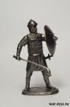 Сарацин-фарис 11 век - Оловянный солдатик. Чернение. Высота солдатика 54 мм