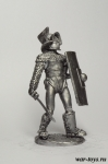 Гладиатор Мирмиллон - Оловянный солдатик. Чернение. Высота солдатика 54 мм