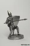 Русский дружинник второй линии - Оловянный солдатик. Чернение. Высота солдатика 54 мм