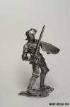 Английский рыцарь, начало 14 века - Оловянный солдатик. Чернение. Высота солдатика 54 мм