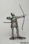 Английский лучник 14 века. - Оловянный солдатик. Чернение. Высота солдатика 54 мм