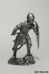Византийский пехотинец, 1204 г. - Оловянный солдатик. Чернение. Высота солдатика 54 мм