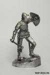Европейский рыцарь, 13 в. - Оловянный солдатик. Чернение. Высота солдатика 54 мм