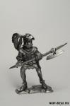Европейский рыцарь, 14 в. - Оловянный солдатик. Чернение. Высота солдатика 54 мм