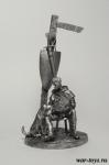 Мальчик-оруженосец с собакой - Оловянный солдатик. Чернение. Высота солдатика 54 мм