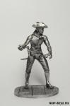 Пират с гранатой - Оловянный солдатик. Чернение. Высота солдатика 54 мм