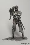Пират с попугаем 75 мм - Оловянный солдатик. Чернение. Высота солдатика 75 мм