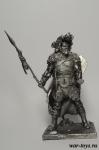 Кельтский воин 3 в. до н.э. 75 мм - Оловянный солдатик. Чернение. Высота солдатика 75 мм