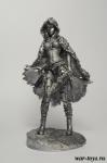 Девушка фэнтези 75 мм - Оловянный солдатик. Чернение. Высота солдатика 75 мм