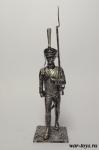 Рядовой Лейб-гвардии Литовского полка. Россия 1812 - Оловянный солдатик. Чернение. Высота солдатика 54 мм
