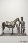 Рядовой Конного Костромского ополчения с конем. Россия 1813
