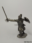 Конкистадор - Оловянный солдатик. Чернение. Высота солдатика 54 мм