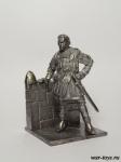 Нормандский рыцарь - Оловянный солдатик. Чернение. Высота солдатика 54 мм