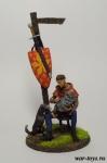 Мальчик-оруженосец с собакой - Оловянный солдатик коллекционная роспись 54 мм. Все оловянные солдатики расписываются художником в ручную