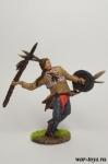Индеец с копьем - Оловянный солдатик коллекционная роспись 54 мм. Все оловянные солдатики расписываются художником в ручную