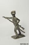 Обер-офицер мушкетерского полка 1780-90-е гг - Оловянный солдатик. Чернение. Высота солдатика 54 мм