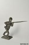 Подпрапорщик мушкетерского полка 1780-90-е гг - Оловянный солдатик. Чернение. Высота солдатика 54 мм