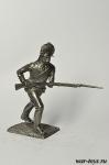 Рядовой мушкетерского полка 1780-90-е гг - Оловянный солдатик. Чернение. Высота солдатика 54 мм