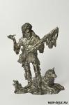 Американский траппер, XVIII-XIX вв - Оловянный солдатик. Чернение. Высота солдатика 54 мм