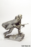 Штурм рейхстага. Знаменная группа. №4 - Оловянный солдатик. Чернение. Высота солдатика 54 мм