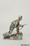 Штурм рейхстага. Знаменная группа. №3 - Оловянный солдатик. Чернение. Высота солдатика 54 мм