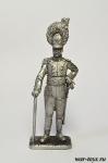 Офицер линейного вюртембергского полка - Оловянный солдатик. Чернение. Высота солдатика 54 мм