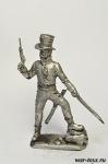 Испанский партизан - Оловянный солдатик. Чернение. Высота солдатика 54 мм