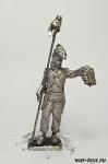 Рядовой пехотного полка революционной армии 1789-95 год - Оловянный солдатик. Чернение. Высота солдатика 54 мм
